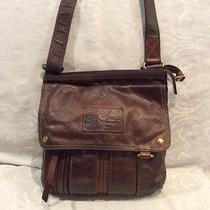 Fossil Brown Leather Crossbody Handbag Photo