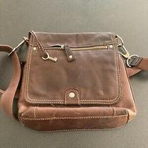 Fossil Brown Leather Crossbody Organizer Bag - Euc Photo