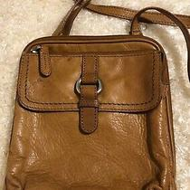 Fossil Brown Leather Crossbody Organizer Purse Bag Classic Photo