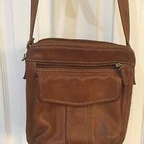 Fossil Brown Leather Crossbody Purse Photo