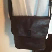 Fossil Brown Leather Crossbody Purse Adjustable Saddle Bag Messenger Photo