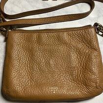 Fossil Brown Leather Crossbody Purse Small Bag Handbag Hobo Satchel  Photo