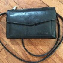 Fossil Brown Leather Crossbody Wallet  Clutch Organizershoulder Bag Purse Photo