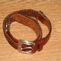 Fossil Brown Leather Designer Belt 29