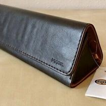 Fossil Brown Leather Foldable Case for Eye Wear Nwt  Photo