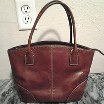 Fossil Brown Leather Handbag Photo
