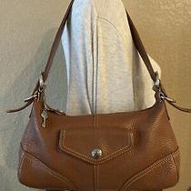 Fossil Brown Leather Handbag Awesome Shoulder Bag Adjustable Strap Purse Bag Photo