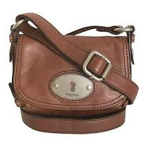 Fossil - Brown Leather Maddox Crossbody Purse Mini Bag Photo