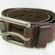 Fossil Brown Leather Men's Belt Size 36 Photo