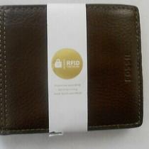 Fossil Brown Leather Men's Bifold Wallet Rfid Retail 50 Photo