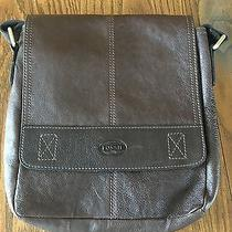 Fossil Brown Leather Messenger  Photo