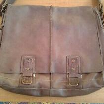 Fossil Brown Leather Messenger Bag Photo