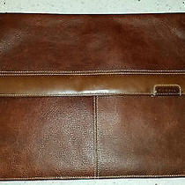 Fossil Brown Leather Portfolio Document  Photo