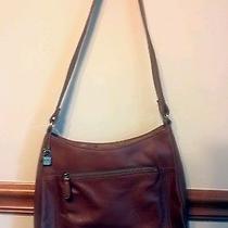 Fossil Brown Leather Satchel Crossbody  Vintage Genuine Original Retail 150 Photo