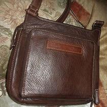 Fossil Brown Leather Shoulder Bag Crossbody Bag Messenger Bag Wallet Men / Women Photo