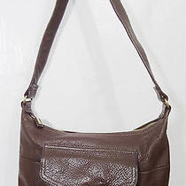 Fossil Brown Leather Shoulder Bag Handbag Purse  Photo