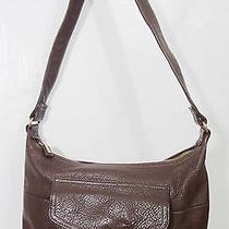 Fossil Brown Leather Shoulder Bag Handbag Purse  Photo