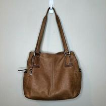 Fossil Brown Leather Shoulder Bag Satchel Purse Long Live Vintage1954 Hand Tote Photo