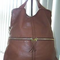 Fossil Brown Leather Shoulder Bag Tote Purse Photo