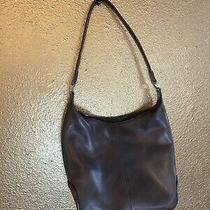 Fossil Brown Leather Shoulder Purse.  Good Condition Photo