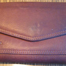 Fossil Brown Leather Tri-Fold Wallet Organizer With Check Book Holder Photo