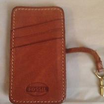Fossil Brown Leather Wallet and Sleave for Apple Iphone Photo