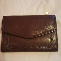 Fossil Brown Leather Wallet Euc Photo