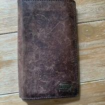 Fossil Brown Leather Wallet Women Photo