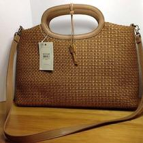 Fossil Brown  Leather Weave Purse Photo