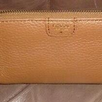 Fossil Brown Leather Zip Around Wallet  Issue 1954  Euc Photo
