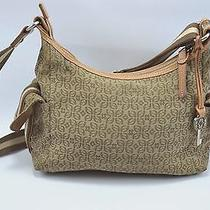 Fossil Brown Logo Print Shoulder Purse Bag Photo