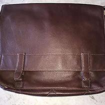 Fossil Brown Men's Leather Atlas E/w Messenger Bag Nwt Original Price 278 Photo