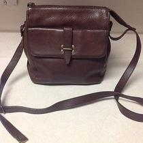 Fossil Brown Pebbled Leather Crossbody Handbag Photo