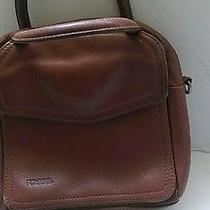 Fossil Brown Pebbled Leather Organizer  Bag Purse Photo