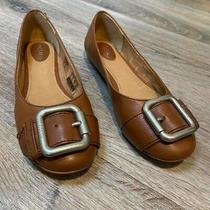Fossil Brown Round Toe Slip on Flats Photo