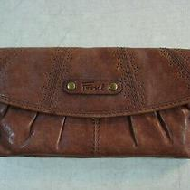 Fossil Brown Soft Leather Coin Purse Wallet Nice Photo