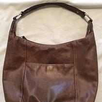 Fossil Brown Wethered Leather Shoulder Bag Hobo Purse Photo