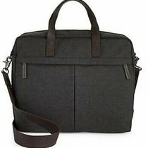 Fossil Buckner Work Bag Laptop Sleeve Canvas Black 15 Inch New Photo