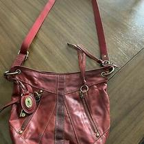 Fossil Burgundy Medium Cross Body Shoulder Bag Purse Photo
