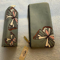 Fossil Butterfly Eye Glass Case and Zip Pouch Set Photo