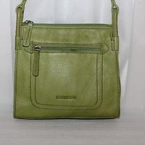 Fossil Buttery Soft Leather Multiple Compartment Crossbody in a Bold Lime Green  Photo