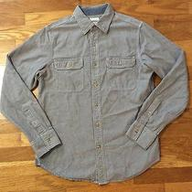 Fossil Button Front Long Sleeve Gray Pocket Shirt Men's Size M Photo