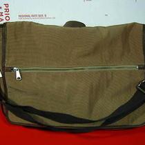 Fossil Camden Khaki  Nylon Leather Trim Laptop Messenger Briefcase Bag Case Photo