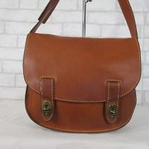 939674791a Fossil Camel Brown Flap Front Crossbody Messenger Bag Purse Photo