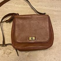 Fossil Camel Brown Leather Handbag Bag Photo