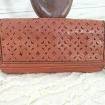 Fossil Campbell Clutch Wallet Russet Brown Buttery Soft Leather  Photo