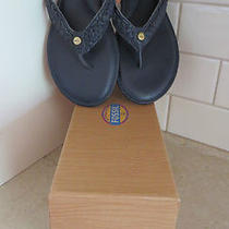 Fossil Candace Thong Sandal 8.5 M Navy Blue Newwbox Photo