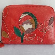 Fossil Candy Red Multifunction Clutch Wallet Flower  Photo