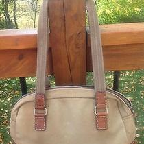 Fossil Canvas and Leather Shoulder Bag Photo