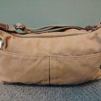 Fossil Canvas Handbag Small Beige Photo